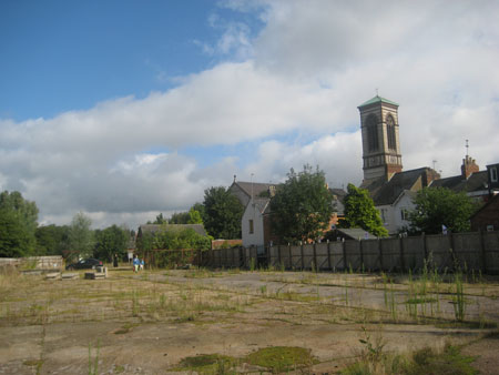 <p>The vacant canalside site</p>