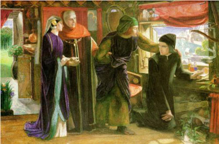 The First Anniversary of the Death of Beatrice by Dante Gabriel Rosetti