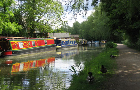 The canal today is used for residential boats as well as leisure boats