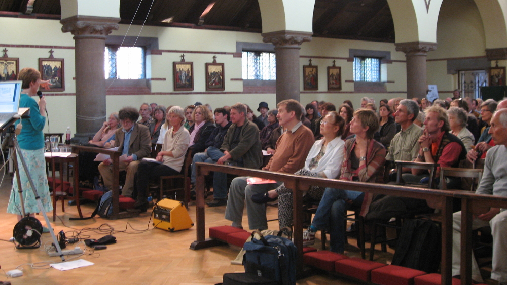 <p>A public meeting in St Barnabas Church discusses Spring&#8217;s proposals</p>