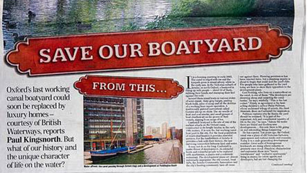 <p>National press, including the Telegraph, cover BW&#8217;s threats to evict the boaters - © Adrian Arbib</p>